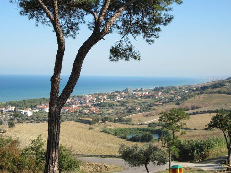Pineto dalla collina http://www.uniquevisitor.it/abruzzo/mare/pineto/pineto.php