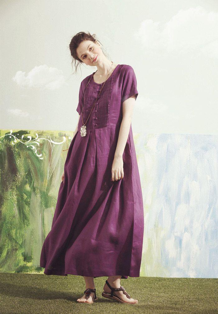 Mejores 93 imágenes de VESTIDOS DE LNO en Pinterest | Moda femenina ...