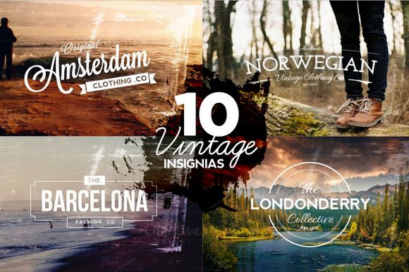 Check out 10 Vintage Insignias & Textures by Layerform on Creative Market