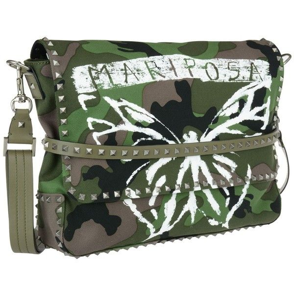 Valentino Messenger Camouflage Bag featuring polyvore women's fashion bags messenger bags green bag camo messenger bag green messenger bag valentino bag