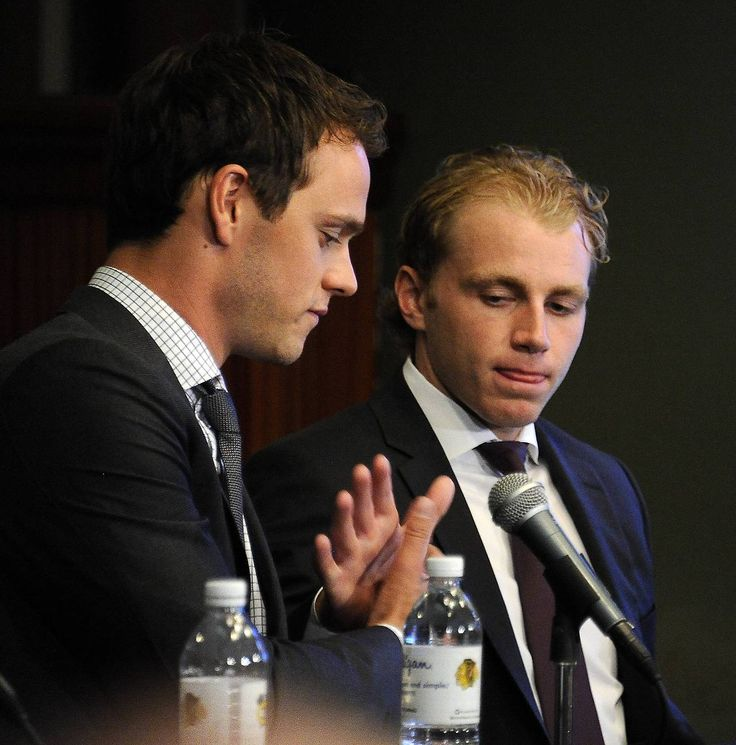"""Where else do you see the two most prominent players on a team agree to negotiate equal contract terms instead of each demanding $1 more than the other?  """"It's special,"""" Kane said of their relationship. """"I was fortunate to come in with (Toews). We could lean on each other, and that really helped us early in our careers."""" (x) (via svmadelyn.tumblr.com)"""