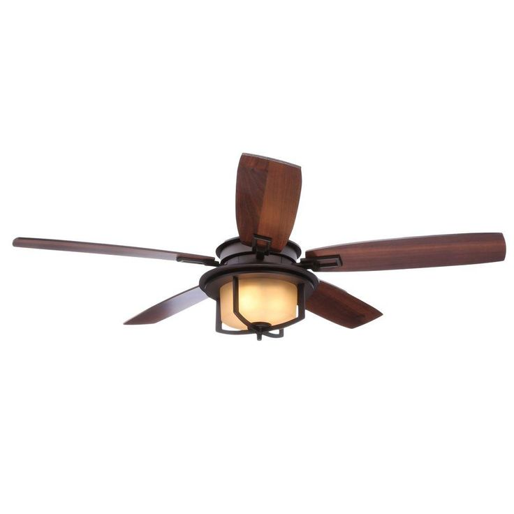 Indoor Oil Rubbed Bronze Ceiling Fan With Light