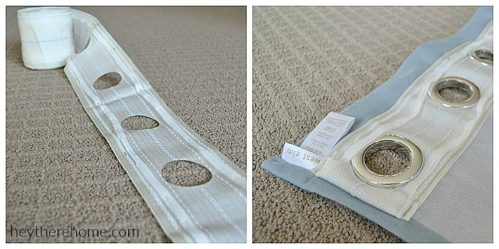 I had no idea that making my own grommet top curtains would be so easy! Grommet…