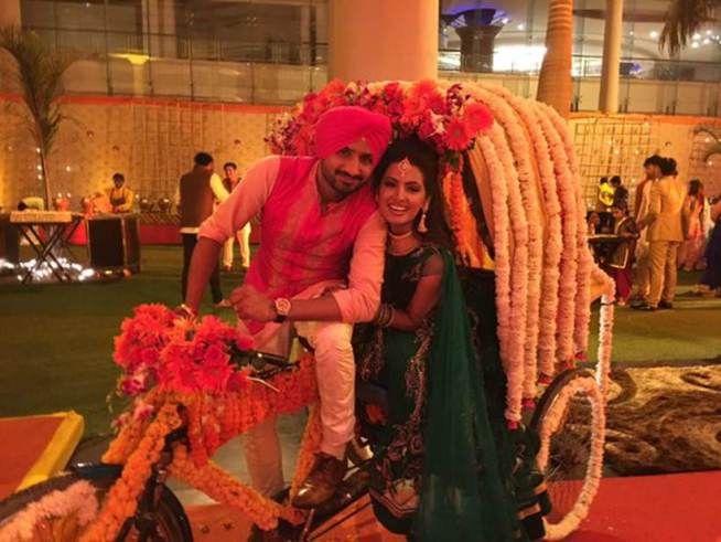 Harbhajan Singh- Geeta Basra's Sangeet Ceremony! Indian Cricketer Harbhajan Singh is all set to tie the knot with his long time girlfriend Geeta Basra tomorrow i.e on 29th October in Jalandhar (Punjab)!