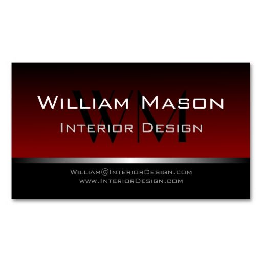 12 best red and black business cards images on pinterest black red black stripe professional business card reheart Images