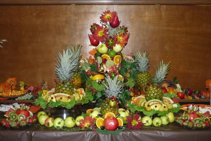 I Did This Fruit Arrangement For A Fall Wedding What S