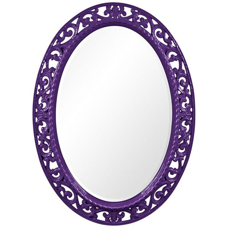 "Howard Elliott Suzanne 27"" x 37"" Royal Purple Wall Mirror - Style # 5J988"