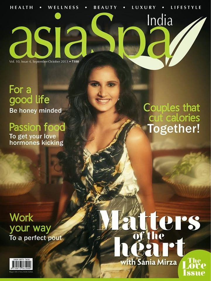 Sania Mirza on The Cover of AsiaSpa Magazine - October 2013.