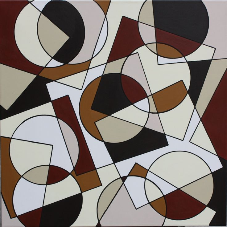 Circle and Square nr. 8 80  x  80 cm i akryl