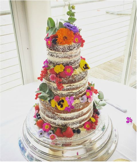 naked wedding cake - Google Search