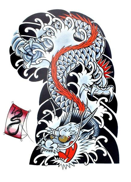 331 best japanese chinese images on pinterest japan tattoo japanese tattoos and tattoo japanese - Dessin dragon japonais ...