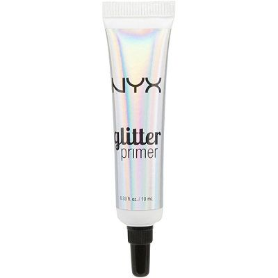 Minimize glitter fallout and keep each and every sparkle in its place with NYX Cosmetics' Glitter Primer.