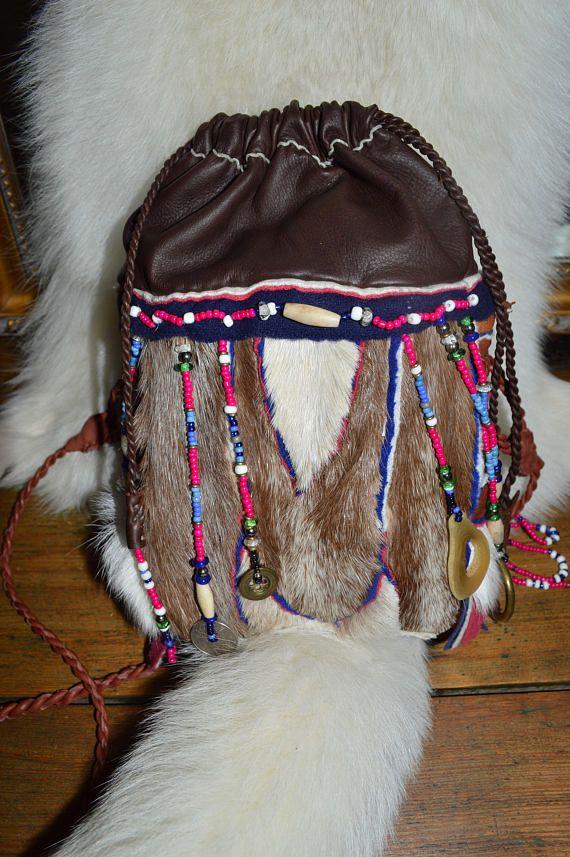 Primitive Reindeer Bag. Siberian style shoulder bag.