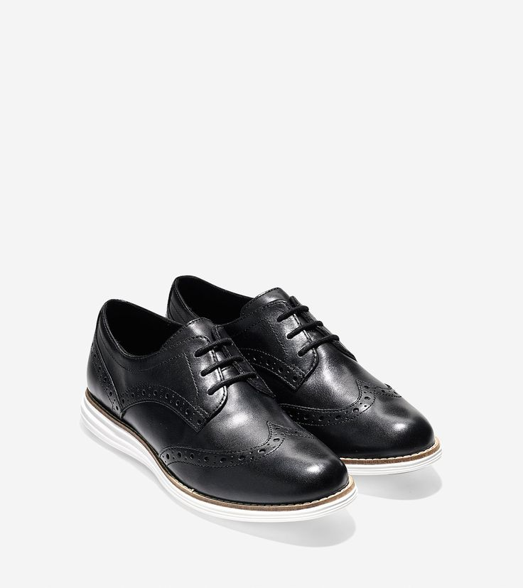 Original Grand Wingtip Oxfords in Black Leather