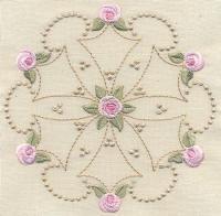 Bullion Rose Quilt 1 - Artistic Designs | OregonPatchWorks