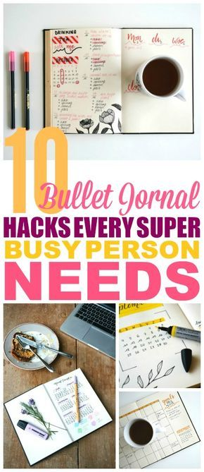 These Bullet Journal Hacks are THE BEST! I'm so happy I found these GREAT Bullet Journal ideas! Now I have some great ways to get more organized with my bullet journal layout and week