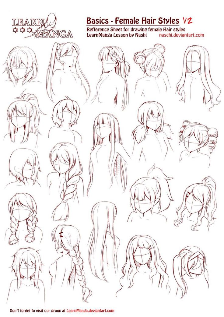 Pretty Girls' Hair Styles for Anime Art and Comic Book Drawings -  Learn more about Wacom graphics tablets, go to Wacomtabletreviews.net