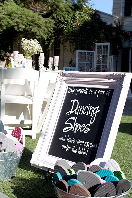 kick off those heels! dancing shoes sign
