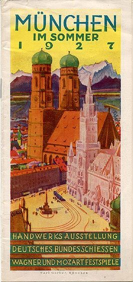 munich in summer 1927 munich vintage travel and travel posters. Black Bedroom Furniture Sets. Home Design Ideas