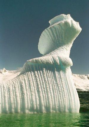 Spiral iceberg in Antarctica by chrisjhn