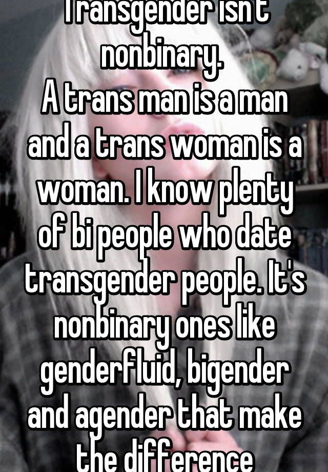 dating a genderqueer person The term genderqueer is used by people who have gender identities that fall outside the female-male binary a genderqueer person.