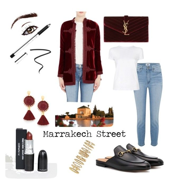"""Marrakech Street"" by kaoutar-rayour on Polyvore featuring Fivestory, MAC Cosmetics, Gucci, Paige Denim, Helmut Lang, Yves Saint Laurent, Marrakech, Marc Jacobs, Hourglass Cosmetics and Forever 21"