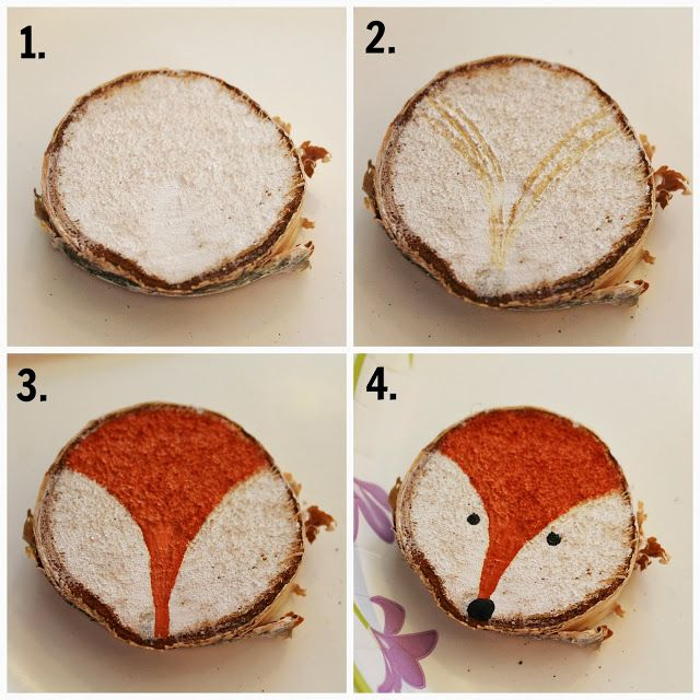 Cute As a Fox: Rustic Hand Painted Woodland Creature Ornaments