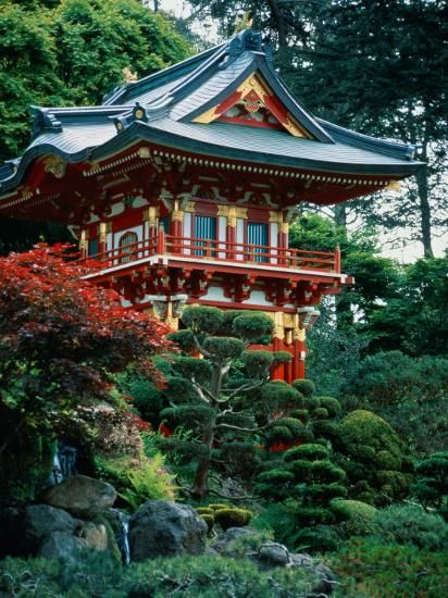 Japanese Tea Garden San Francisco Ca Photographic Print Daniel Mcgarrah Art Com Japanese Buildings Tea Garden Japanese Architecture