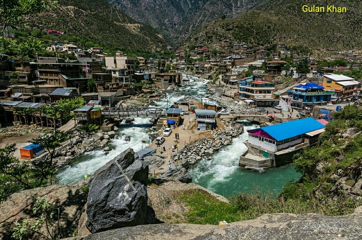 So fantastic photography of beautiful houses in Bahrain city Swat valley Khyber Pakhtunkhwa Pakistan