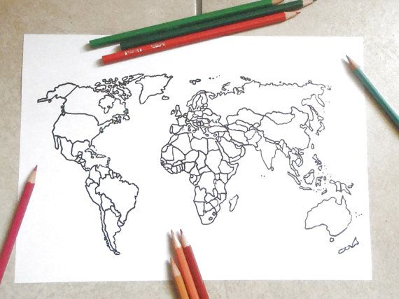 blank map world kids adult coloring book page instant download globe nations teaching at home decor printable print digital lasoffittadiste