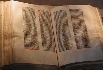The Gutenberg Bible.  1st Printed Bible.