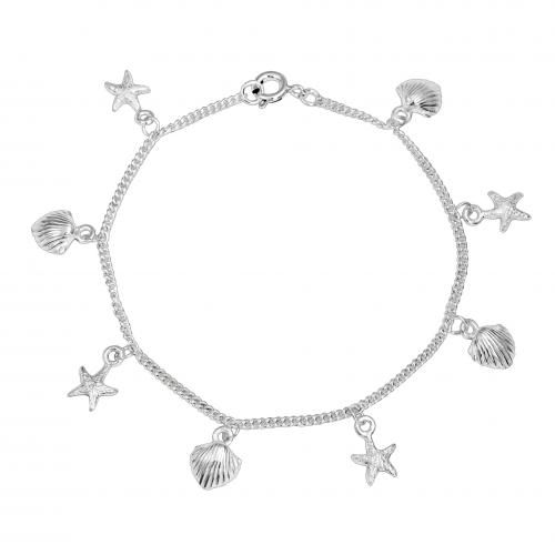 Bling Jewelry Shell Starfish Nautical Sea of Life Charm Bracelet Sterling Silver