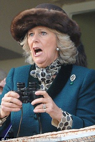 Camilla Parker Bowles She sure spends a lot of time with her mouth open!...maybe that's what appeals to Charles