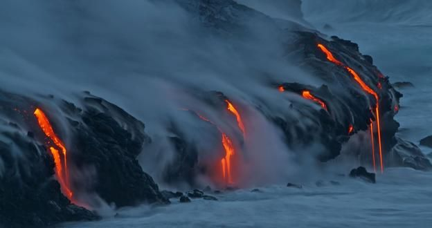 Kilauea at dawn. (David Jordan/Associated Press)