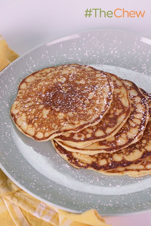 Use your leftover lemon curd to make a Lemon-Ricotta Pancakes brunch or breakfast your family will never forget. #TheChew