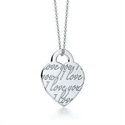 Tiffany & Co Tiffany Notes I Love You Charm and Necklace, High Quality Tiffany Jewellery on Sale