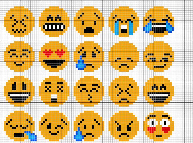 Les 148 meilleures images du tableau point de croix smiley - Smiley perle a repasser ...
