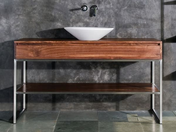 Floor-standing wooden vanity unit with drawers DUKE | Floor-standing vanity unit by KARPENTER