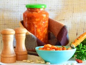 Фасоль в томатном соке на зиму — рецепт с фото пошагово