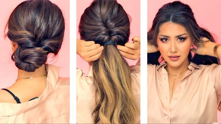 ★ 1-MIN EVERYDAY HAIRSTYLES for WORK! 💗  WITH PUFF 💗  EASY BRAIDS & UPDO for Long 💗 Medium HAIR - YouTube