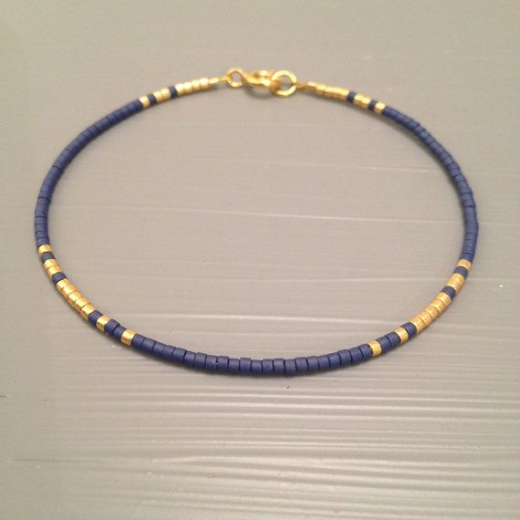 Layering Bracelet Set ,Tiny delicate jewelry This listing is for one beaded gold fill Bracelet. Bracelet is made of a Miyuki Delica beads,