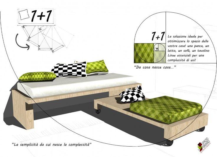 1+1 è la soluzione ideale per ottimizzare lo spazio della vostra casa! Una semplice panca in legno,un letto, un sofà, su cui poter collocare un materasso individuale (o due!), con un ingombro complessivo di 210x90x45 cm. Linee essenziali per una complessità di usi rispondono ad una realtà fatta sempre di più di spazi ritretti, per una società che comunque è desiderosa di avere ogni tipo di comfort di cui è abituata.