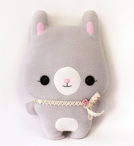 Plushie Sewing Pattern PDF Cute Soft Toy - Mimi Bunny Rabbit Softie Stuffed Animal 14 via Etsy