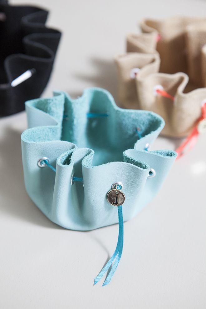 How to make a no-sew leather jewelry pouch!