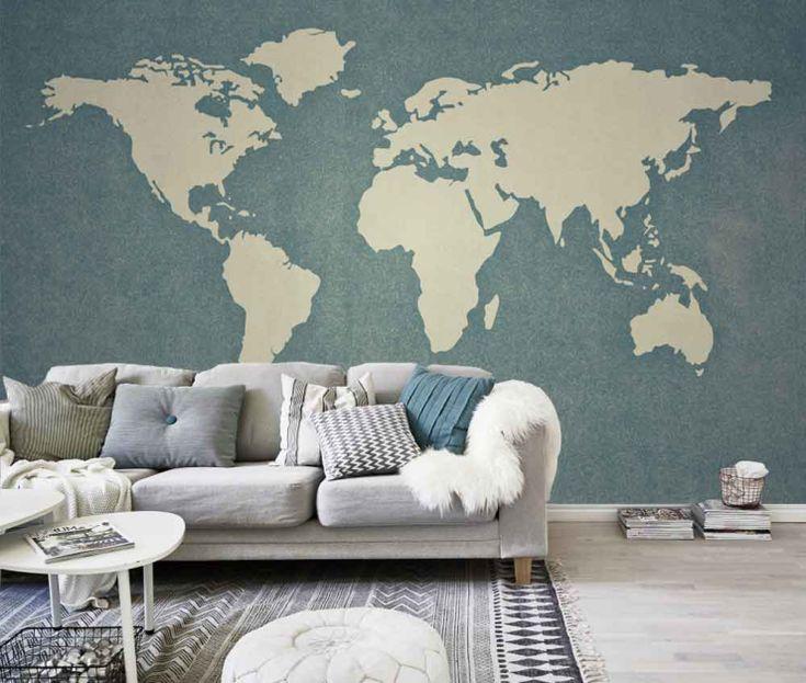25 beste idee n over accentmuur behang op pinterest slaapkamer behang bos behang en - Deco entreehal ...