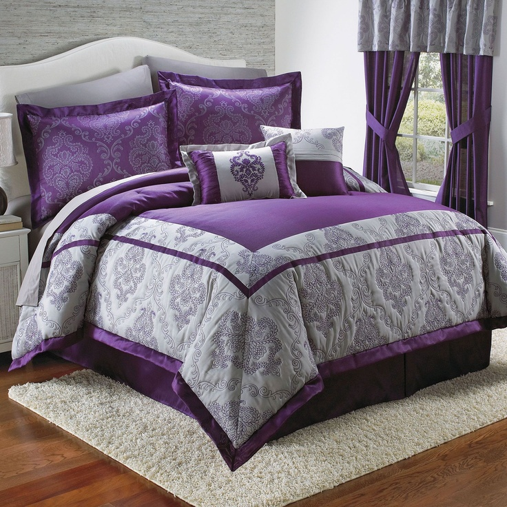 best 25 purple comforter ideas on pinterest 11728 | 70e42a14453a47c953c5cd2c0da26c02 purple bedrooms gray bedroom