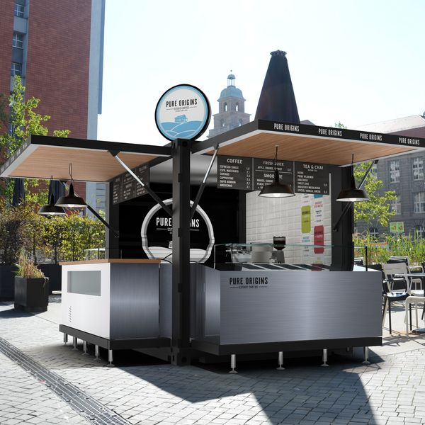 10ft Pop-up Shipping Container Kiosk Design,Mobile Fast Food Kiosk For Sale…