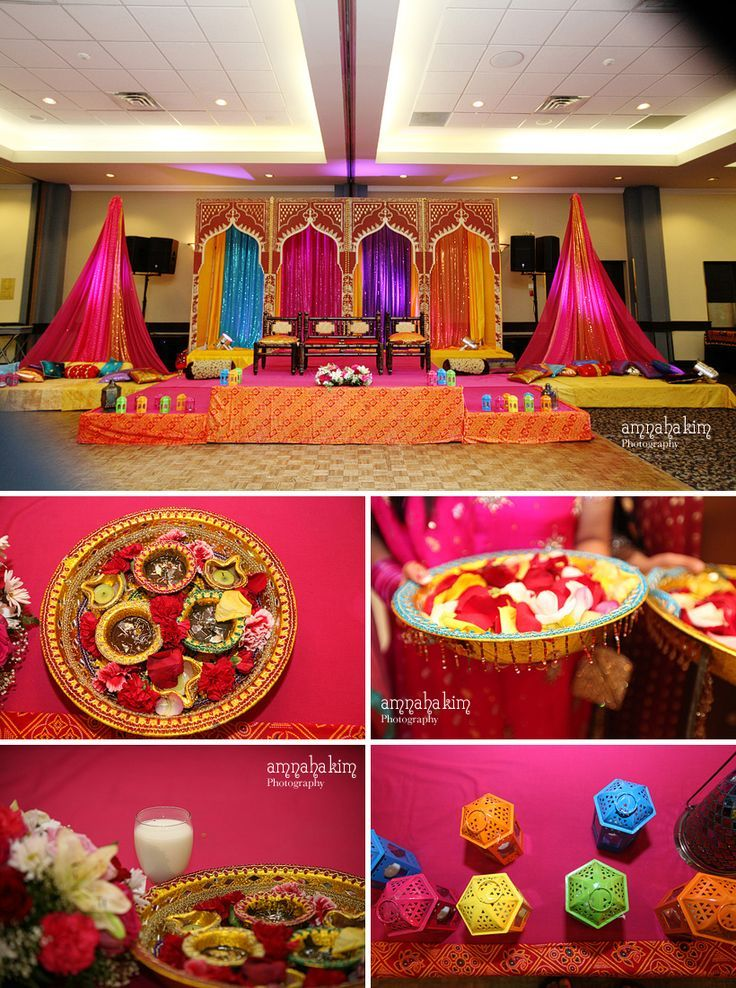 73 best indian engagement decors images on pinterest for Wedding home decoration ideas
