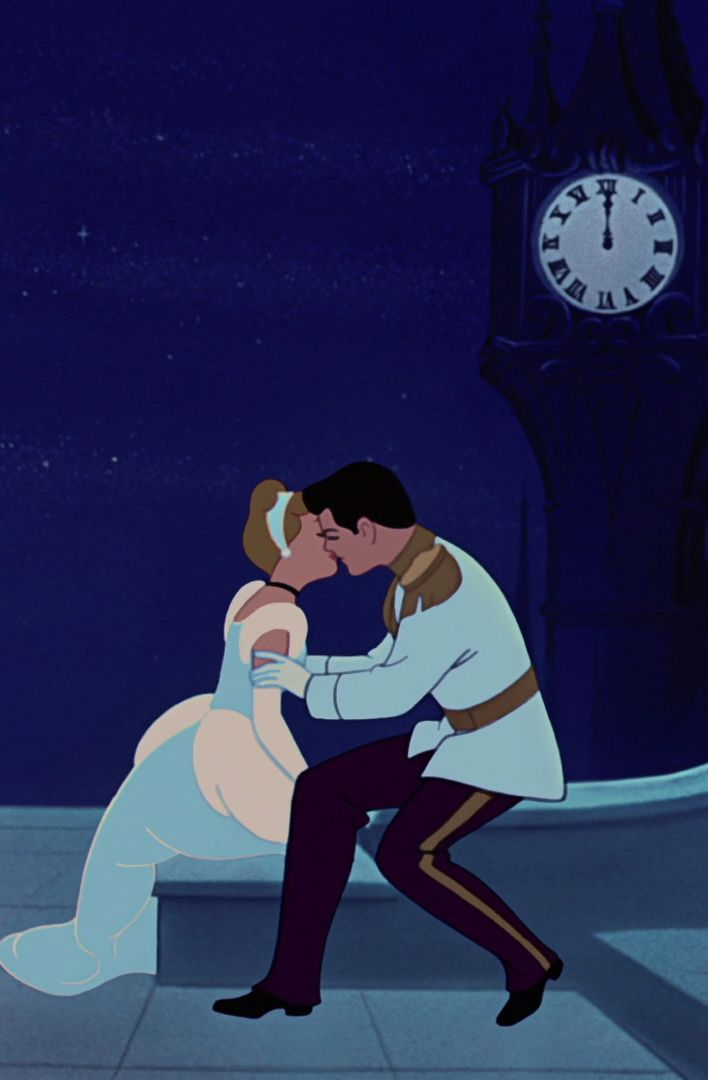 It's such a magical part of the movie when Cinderella and Prince Charming kiss. It is true love!
