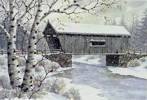 Covered Bridge by Kathy Glasnap